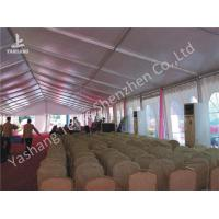 China Clear Span Large Outdoor Tent White PVC Fabric Door Transparent PVC Windows wholesale