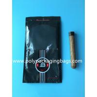 China Custom classic black cigar bag general zipper plastic moisturizing bag with 4-6 cigars wholesale