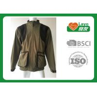 China 100% Polyester Olive Color Fleece Hunting Jacket For Hunting / Hiking / Camping wholesale
