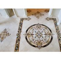 China Natural Marble Stone Mosaic Tile , Medallion Stone Floor Tiles 8mm Thickness wholesale