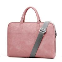 Women's PU Leather Business Laptop Bag Fashionable For Daily Use