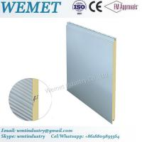 China 500-1000MM width PU/PIR fire proof insulated wall panel for steel structure building wholesale