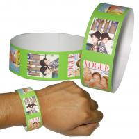 Movie Entrance Printable TYVEK Wristbands , Sweat-proof Personalized Tyvek Wristbands