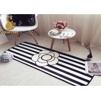 Buy cheap Black White Water Absorbing Floor Mats / Living Room Area Rugs Contemporary Style from wholesalers