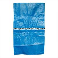 China Durable Blue PP Woven Bags for Packing Chemicals / Industrial Polypropylene Sacks wholesale