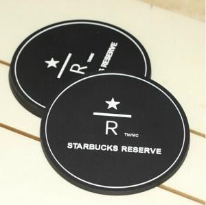 China Eco-friendly silicone black 8.5 cm tea cup coaster on sale