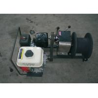 Pole Setting Gasoline Cable Drum Winch Lifting 1 Ton , Cable Puller Winch