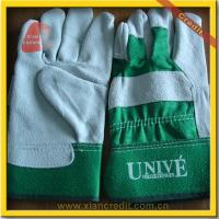 China Industrial Cow Split Leather Safety Gloves WG-320 on sale