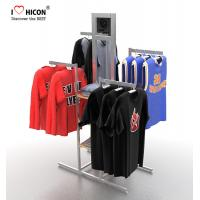 China Your Logo Clothing Store Fixtures Display Clothes Rack 4-way For Retail Store wholesale