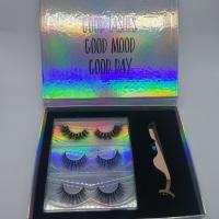 China Natural 100 Real Mink Lashes 3 Pairs / 5d Eyelash Extensions With Private Label wholesale