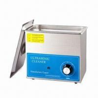 Ultrasonic Parts Cleaner with 100W Power and 3L Tank Capacity, Measures 270 x 170 x 240mm