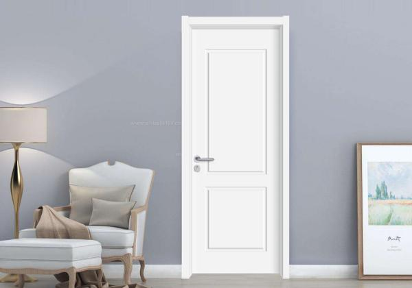 Quality Painted Internal Flush Doors , Customized Size White Flush Oak Veneer Internal Doors for sale