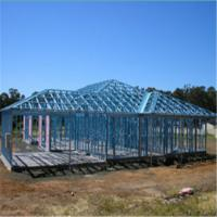 Light Steel Villa with Galvanized Steel Structures Light steel villa