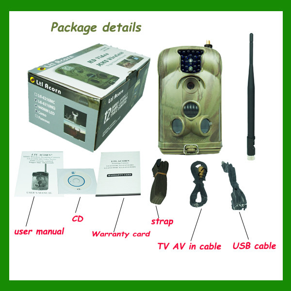 Quality New Mobile Scouting Hunting Camera Ltl-6210M Series MMS GSM Camera with 32GB SD Card video camera for hunting for sale