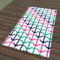 China Colorful Anchor Beach Towel / Printed Beach Towels Excellent Water Absoption wholesale