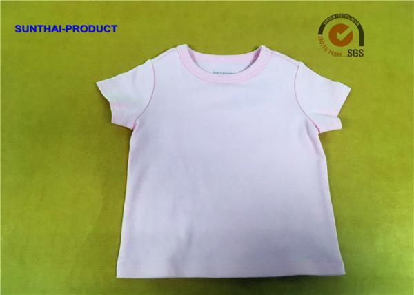 Quality Basic Solid Children T Shirt Short Sleeve Crew Neck Plain Baby Girl Top for sale