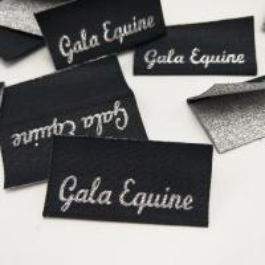Direct factory High density folded metallic woven garments label custom for clothing
