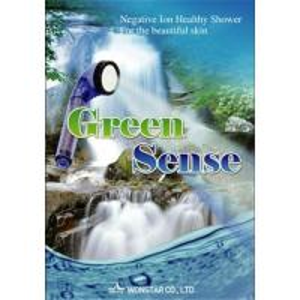 China Green sense anion water saving shower head on sale