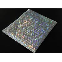 China 220x160mm Shiny Holographic Bubble Envelope Mailers with Zipper Cosmetic Bubble Jiffy Bag wholesale