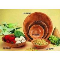 China Round Wooden Salad Bowl wholesale