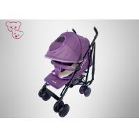China Removeable Armrest Baby Umbrella Stroller 100% Inspection Purple Rotatable Handle Bar wholesale