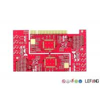 Buy cheap FR4 Multilayer PCB Board 1OZ Copper Thickness For Communication With Gold Finger from wholesalers
