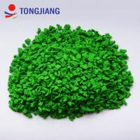 Buy cheap SGS test Labosport apple green 0.5mm-4mm high gel content epdm rubber granules from wholesalers