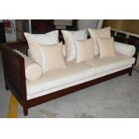 China Contemporary Chinese Style Luxury Living Room Furniture 3 Seater Teak Wood Sofa SGS wholesale