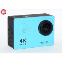 China 2.0 Inch LCD Blue 4k Sports Action Camera FHD Wide Angle With Water Proof Case wholesale