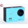 China 2,0 дюйма ЛКД голубое 4к резвится камера ФХД действия широкоформатная с случаем доказательства воды wholesale