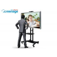China Free Standing Sliding Smart Interactive Whiteboard Lcd Pc Interactive Smart Board on sale