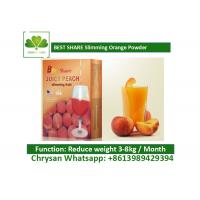 China Peach Powder Leisure Slimming Juice , Fat Burning Fruit Juice For Weight Loss wholesale