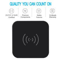China 7.5w Universal Usb Power Adapter Qi Wireless Charge Pad With Anti Slip Rubber wholesale