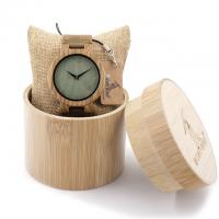 China wooden quartz wristwatch wood dial leather band watches for men on sale