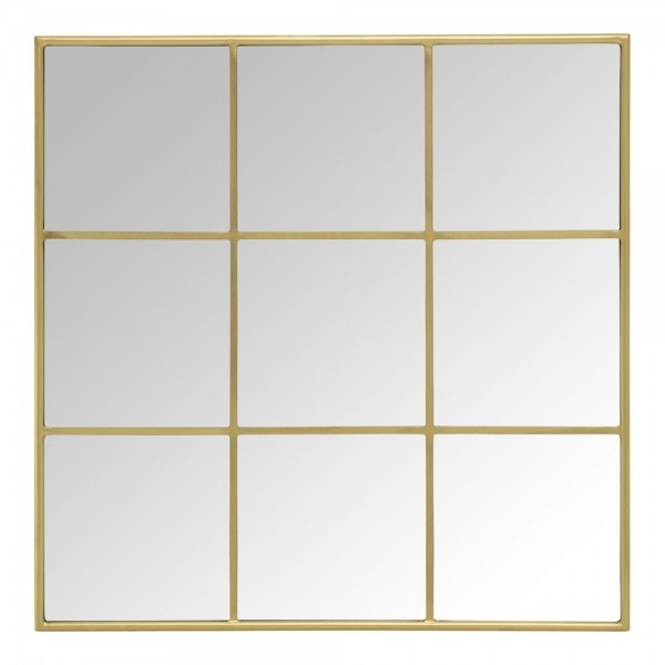 Quality Metal window frame with mirror in brushed brass stainless steel for Interior construction work for sale