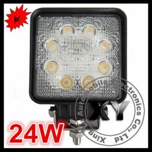 China 24W 8pcs leds square spot beam car lamp motorcycle light on sale
