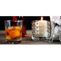 China Round Decoration Glass Candlestick Holders / Clear Glass Candle Holders wholesale