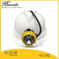 China 10.4Ah super long working time 18h underground coal miners equipment wire cap lamp KL12LM on sale