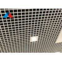 China RAL Color Aluminium Grid Ceiling , Perforated Suspended Ceiling Grid W25 X H80 X L440mm on sale