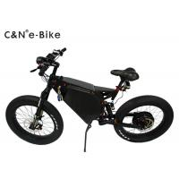 China Big Wheel Electric Fat Tire Mountain Bike , High Speed Fat Tire Electric Bicycles wholesale