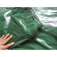 120gsm green color tarpaulin with rope and grommets used for bicycle cover