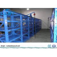 China 3 Drawers Mold Storage Racks With Powder Coated Finish Blue Color Easy To Operate wholesale
