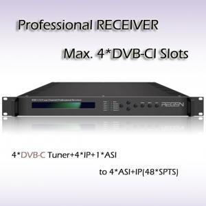 China RSR1114 Digital TV DVB-T2 Demodulator  professional IRD Digital TV IPTV Headend 4*DVB-T2 Input 48*SPTS UDP/IP Output on sale