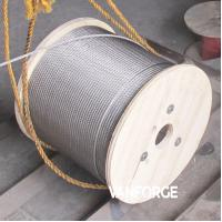 China 7x19 Construction Stainless Steel Wire Rope Pressure Resistance Extremely Flexible on sale