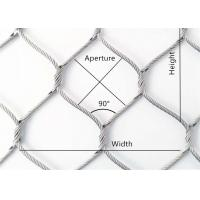 China Stainless steel cable woven mesh (stainless steel sleeveless wire rope mesh) wholesale
