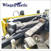 China Double Wall Corrugated Plastic PE PVC Pipe Manufacturing Machine For Sale wholesale