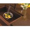 China Artificial Quartz Slab Countertops Coffee Brown Color Kitchen Island Stone wholesale