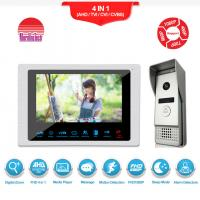 China Excellent quality video door phone silver doorbell with camera smart security intercom system wholesale