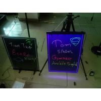 China 580x420mm hanging led writing board with engraved border wholesale