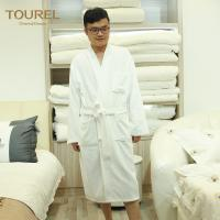 China White Cotton Luxury Spa Bathrobes for Women With Pocket And Waist wholesale
